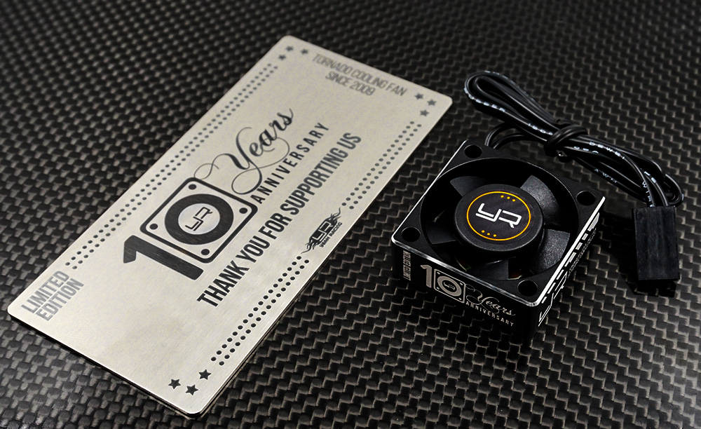 Yeah Racing Tornado 10th Anniversary Limited Edition Aluminum Case Cooling Fan #YA-0180-10th