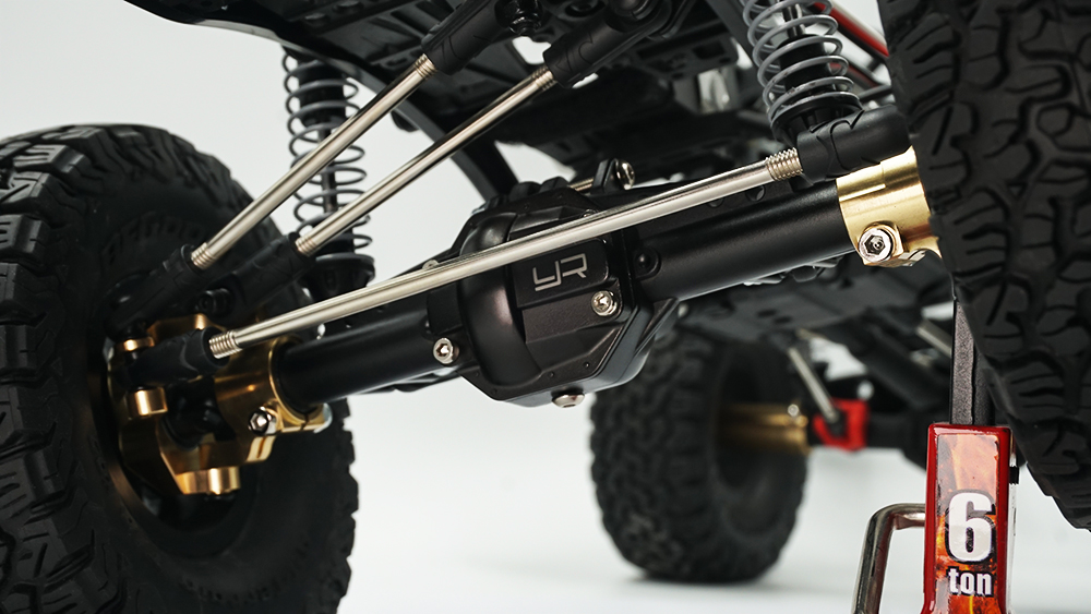 Yeah Racing Alloy Front Axle Housing For AXIAL SCX10 II Black #AXSC-011BK