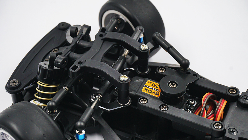Yeah Racing Aluminum 7075 Ball Bearing Steering Set For Tamiya M08 Black #TAMC-081BK