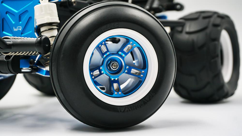 Yeah Racing Aluminum Wheel Cap & Adapter For Tamiya WR-02CB Black #TAWR-011BK