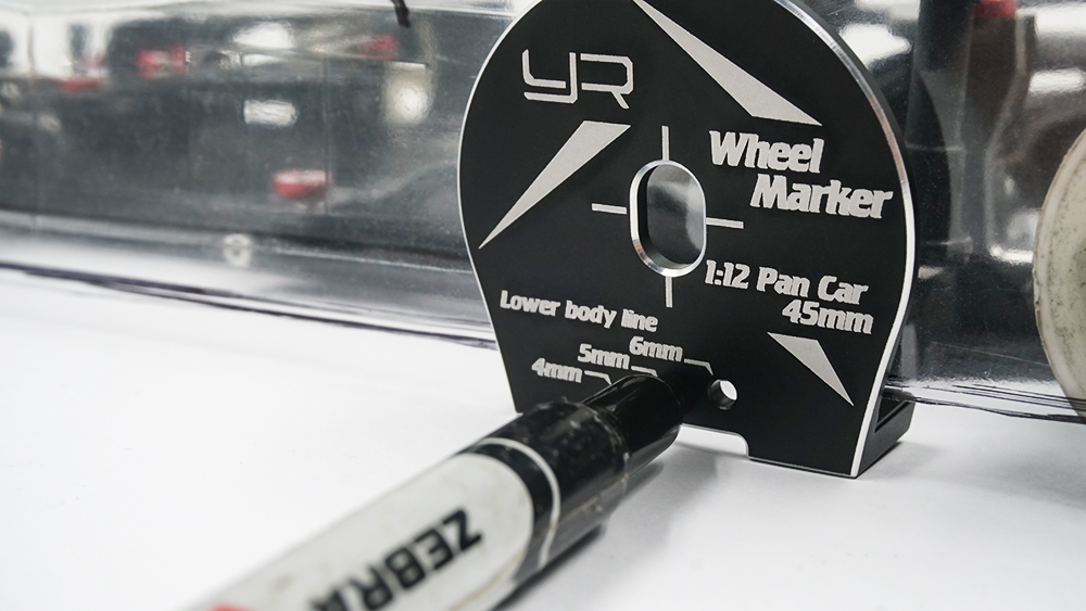 Yeah Racing Aluminum Wheel Well Marker For 1:10 Touring M-Chassis Black #YT-0203BK