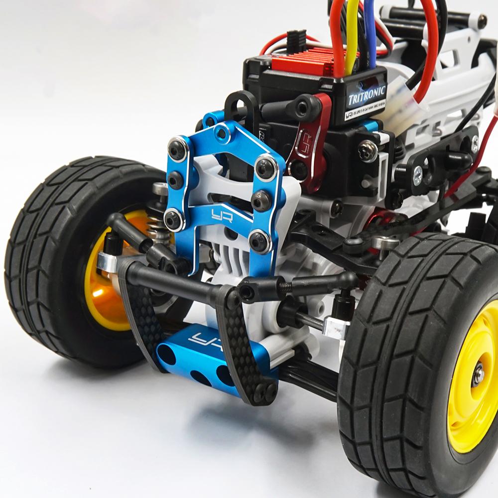 Yeah Racing Aluminum Front Bumper for Tamiya SW-01 Black #TASW-002BK