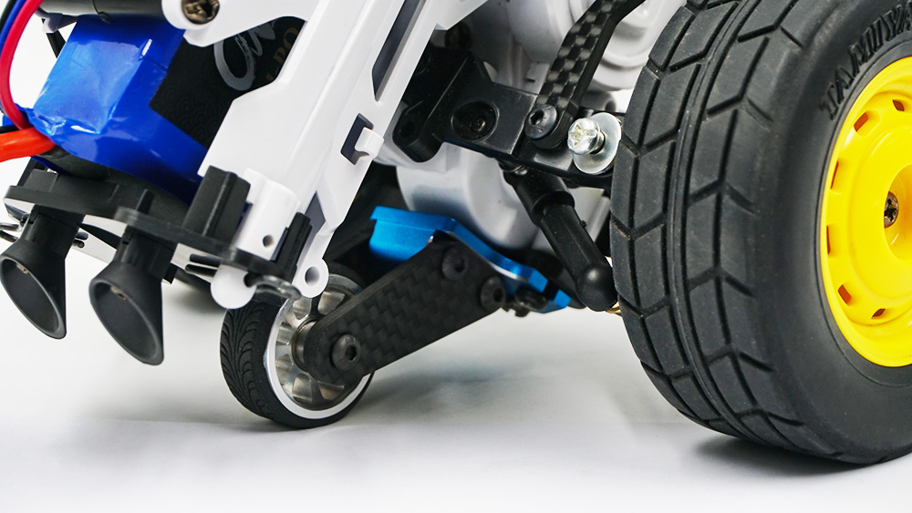 Yeah Racing Aluminum Wheelie Bar for Tamiya SW-01 Black #TASW-005BK